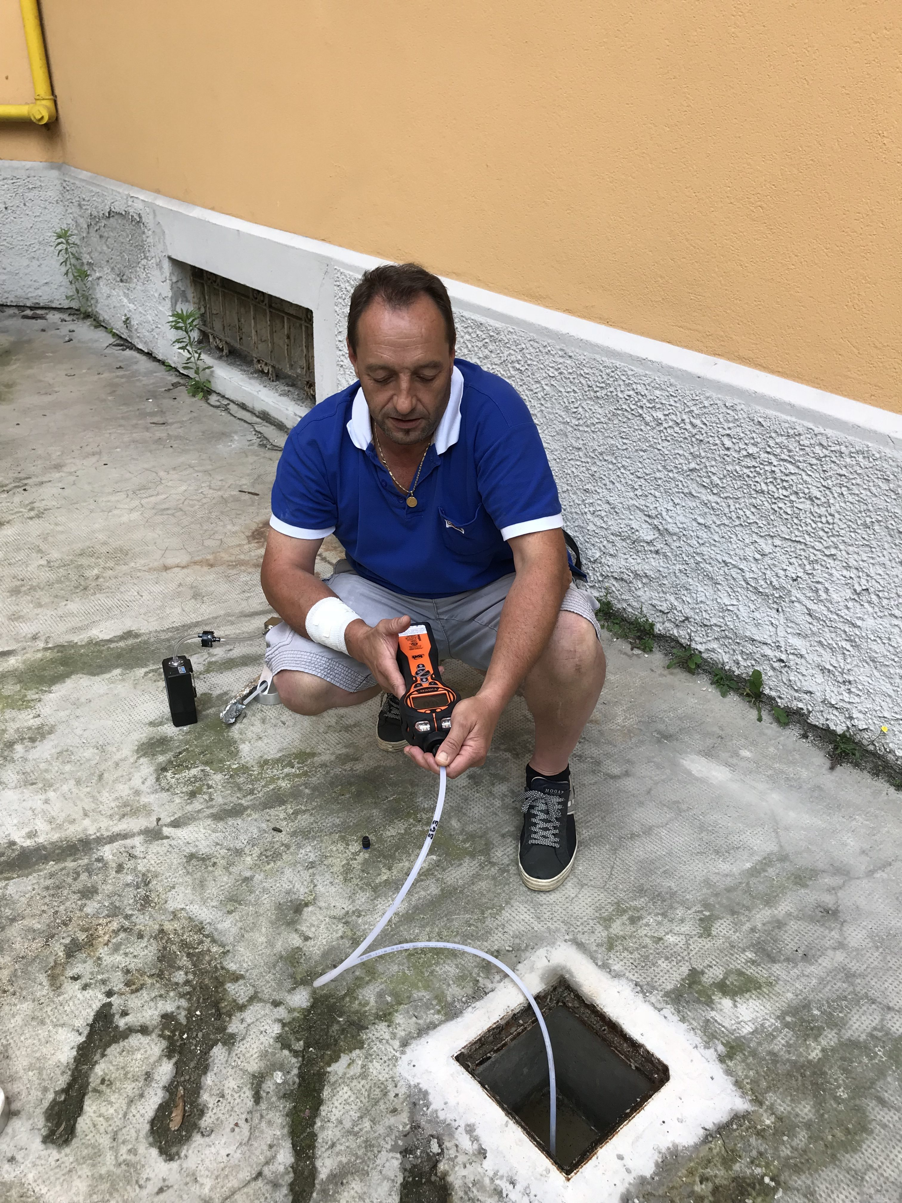 monitoraggio soil gas nel terreno
